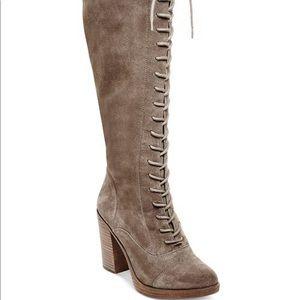 Women's Steve Madden lace up boots heel knee